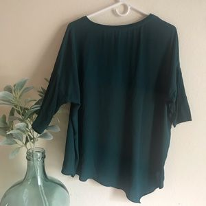 Dark Green flowy blouse